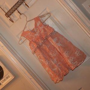 Girls 4t jessica Simpson Spring peach color dress